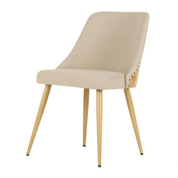 Nala Fabric Bamboo Chair Stokes Linen