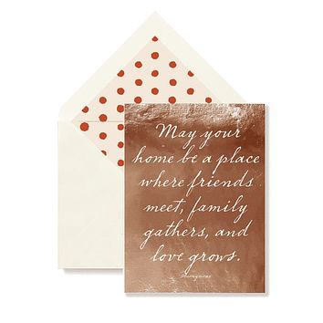 May your Home Be A Place Greeting Card, Single Folded Card or Boxed Set of 8