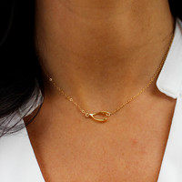 Wishful Thinking Wishbone Necklace - Christine Elizabeth Jewelry