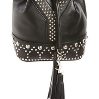 Saint Laurent Small Y Stud Calfskin Bucket Bag | Nordstrom