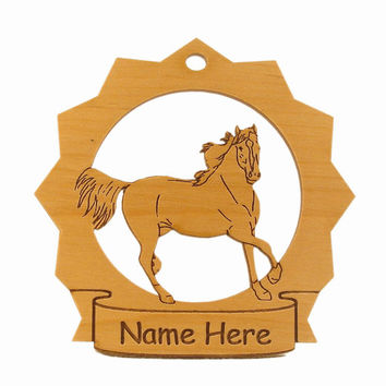 Rocky Mountain Horse Running Wood Ornament 088253 Personalized With Your Horse's Name