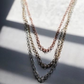 3-Tone Prism Layered Necklace