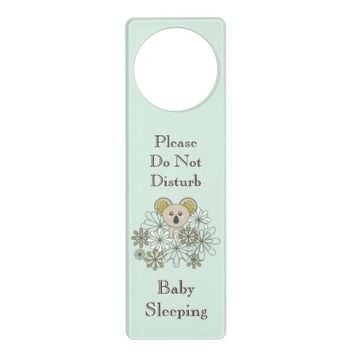 Cute Animal Baby's Room Personalized Door Knob Hangers for Baby Boy and Girl: Gift Idea for Neutral Baby Shower: Baby Koala