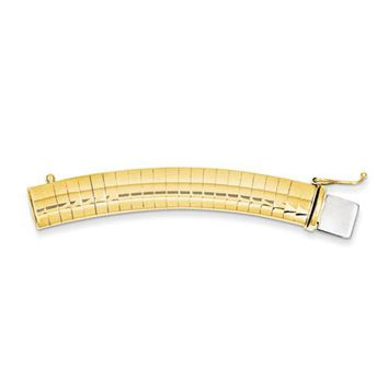 14k Yellow Gold Omega Extender for Necklace