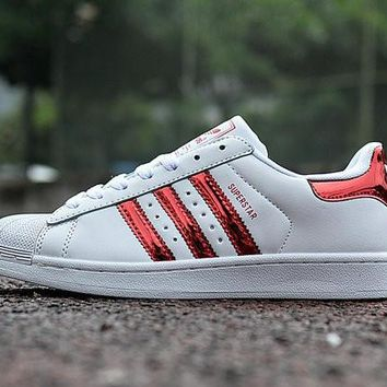 """Adidas Superstar """"White/Red"""" Laser Sequined Leather"""