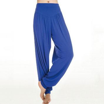 New Women casual harem pants high waist S port pants dance club wide leg loose long Harem bloomers trousers plus size