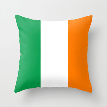 National flag of the Republic of Ireland - Authentic 3:5 Version Throw Pillow by LonestarDesigns2020 - Flags Designs +