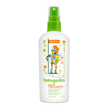 Babyganics Natural DEET-Free Insect Repellent- 6 Ounce Spray Bottle