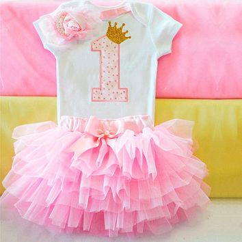 Brand Summer Newborn Sunshine My First Birthday Party Dress Outfits Infant Tutu Fluffy Girls Yellow Color Clothes Girl Vestido