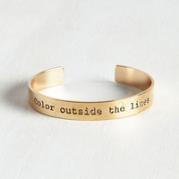 Sayings Color By Wonder Bracelet by ModCloth