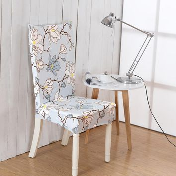 19 Printed Color Stretch Dining Chair Restaurant For Weddings Banquet Folding Hotel Chair Covering Household Seat Cover