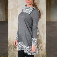 Sure Thing Tunic, Gray