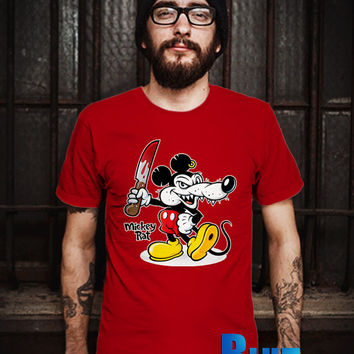 MICKEY RAT Men T-Shirt - Mickey Angry T-Shirt - Mickey Mouse T-Shirt - Disney Design T-Shirt for Men (Various Color Available)