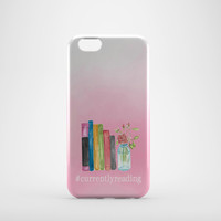 Currently Reading Phone Case - Bookworm Cell Phone Cover - Bookish Accessories - Book Quote