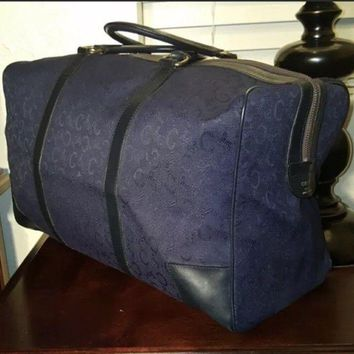Celine Authentic Women's Navy Bag, Duffle or Tote - Vintage