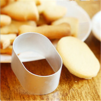 Free Shipping Ellipse Shape Cake Decoration tools cookie cutter gingerbread mould,metal cookie cutter fondant mold D876