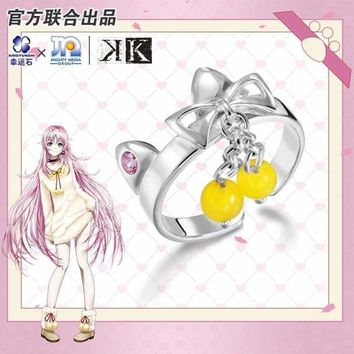 Project K Anime Ring Silver 925 Sterling Cartoon Character Cosplay Suoh Mikoto Neko Model Figure Fashion Jewelry Macchar Cosplay Catalogue