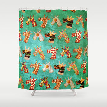 Unicorn Food Shower Curtain by That's So Unicorny