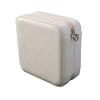 Mele & Co. Dana Faux Leather Jewelry Box in Ivory