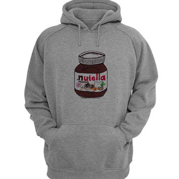 nutella Hoodie Sweatshirt Sweater Shirt Gray for Unisex size with variant colour
