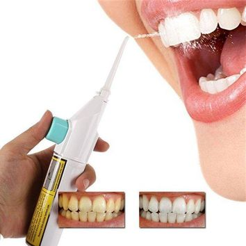 DCCKU7Q Hot! Portable Air Dental Hygiene Floss Oral Irrigator Dental Water Jet Cleaning Tooth Mouthpiece Mouth Denture Cleaner