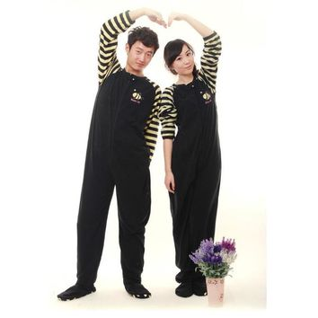 2017 Adults Footed Pyjamas For Women Couple Sleepwear Animal Pijamas Winter Warm Footed Pajama