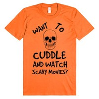 WANT TO CUDDLE AND WATCH SCARY MOVIES?