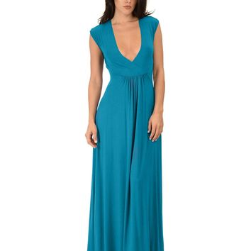 Lyss Loo Sweetest Kiss Sleeveless Teal Maxi Dress