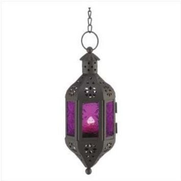 Purple Moroccan Candle Lantern