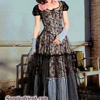 """Country Lolita """"Wonderland DayDream"""" Gauze Cover Corset Bodic&Skirt Set*Ankle Length,4color - fanplusfriend"""