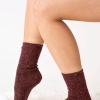 Mistletoes Socks - Burgundy