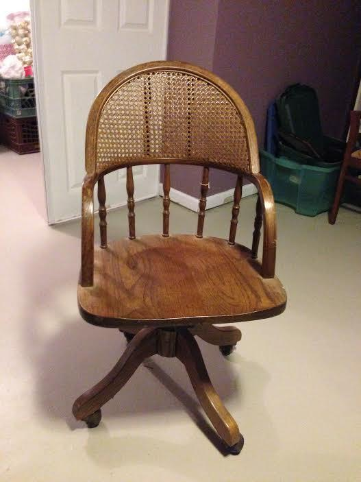 - Antique Oak Swivel Desk Chair With Cane From Krrb Local Epic