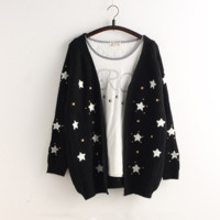 Korean star sweet sweater coat