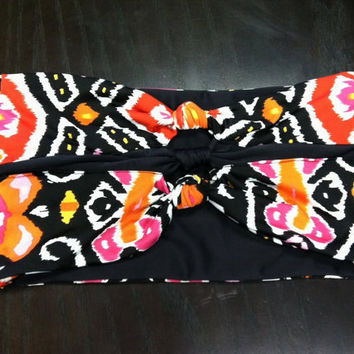 Ikat Knotted Front Bandeau