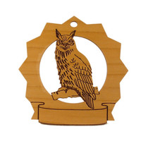 Owl Pesonalized Wood Ornament