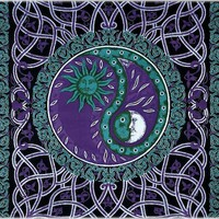 Celtic Yin-Yang - Purple - Tapestry
