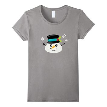 Funny Christmas Snowman Poop T Shirt Winter Holiday Tee