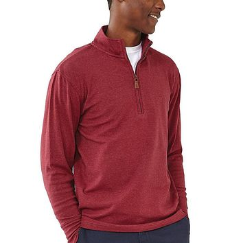 Puremeso Quarter Zip Pullover in Tibetan Red by The Normal Brand - FINAL SALE