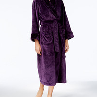 Charter Club Dimple Contrast Long Robe, Created for Macy's - Lingerie & Shapewear - Women - Macy's