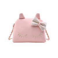 Cute Bow Cat Chain Shoulder Bag