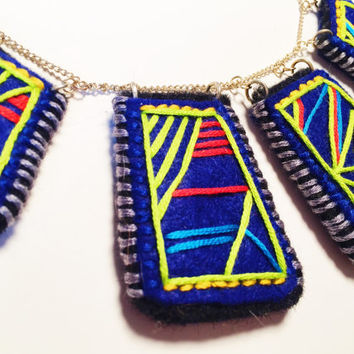Electric Navy Blue Necklace