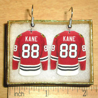 Patrick Kane Chicago Blackhawks Hockey Jersey Earrings