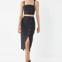 UO Amanda Button-Down Midi Skirt | Urban Outfitters
