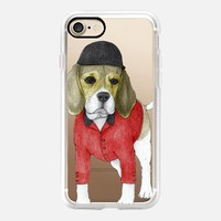 Beagle (transparent) iPhone 7 Case by Barruf | Casetify