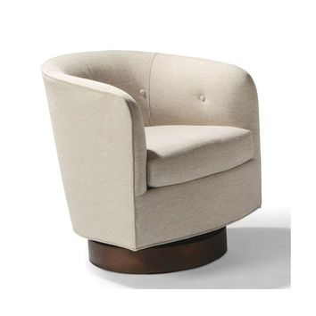 Thayer Coggin Milo Baughman Roxy Would Swivel Chair