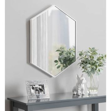 Kate and Laurel Rhodes Framed Hexagon Wall Mirror | Overstock.com Shopping - The Best Deals on Mirrors