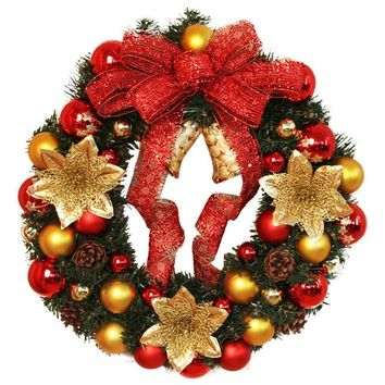 40cm Christmas Large Wreath Decoration Door Wall Ornament
