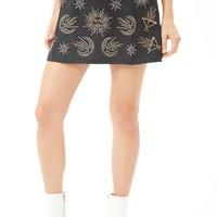 Selfie Leslie Studded Mini Skirt