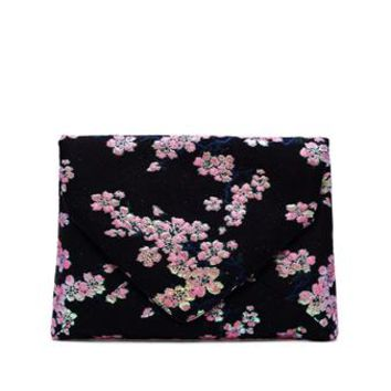 DRIES VAN NOTEN | Blossom Jacquard Clutch | brownsfashion.com | The Finest Edit of Luxury Fashion | Clothes, Shoes, Bags and Accessories for Men & Women