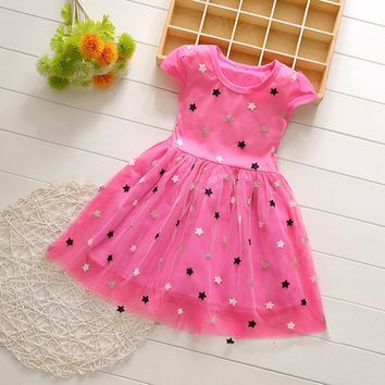 Pink Polka Dots Girls Dress